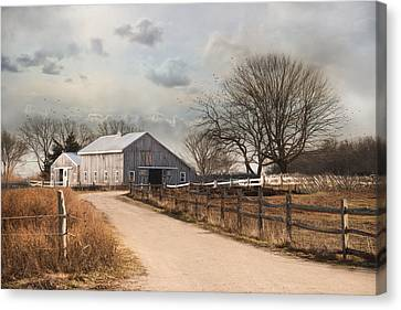 Canvas Print featuring the photograph Rustic Lane by Robin-Lee Vieira