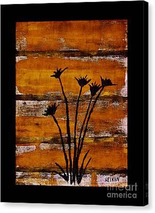 Rustic Log Cabin Canvas Print by Marsha Heiken