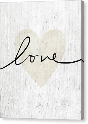 Rustic Love Heart- Art By Linda Woods Canvas Print by Linda Woods