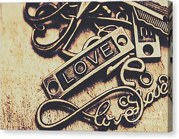 Rustic Love Icons Canvas Print by Jorgo Photography - Wall Art Gallery