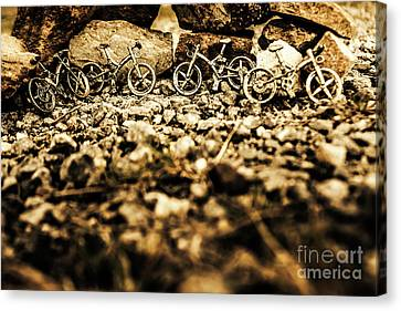 Terrain Canvas Print - Rustic Mountain Bikes by Jorgo Photography - Wall Art Gallery
