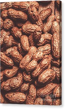 Foodstuffs Canvas Print - Rustic Nuts Background  by Jorgo Photography - Wall Art Gallery
