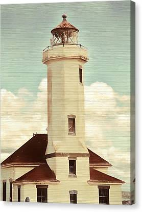 Ports Canvas Print - Rustic Point Light by Dan Sproul