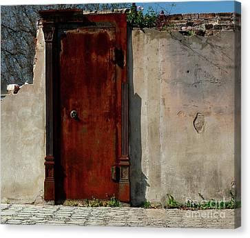 Canvas Print featuring the photograph Rustic Ruin by Lori Mellen-Pagliaro