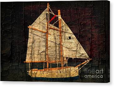 Canvas Print featuring the photograph Rustic Sailboat by Michael Moriarty