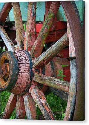 Rustic Spoke Canvas Print by Robert Smith