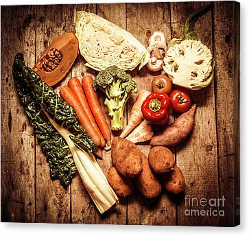 Rustic Style Country Vegetables Canvas Print by Jorgo Photography - Wall Art Gallery