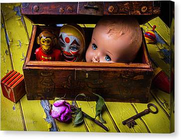 Rustic Toy Box Canvas Print by Garry Gay