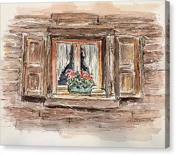 Rustic Window Canvas Print by Stephanie Sodel