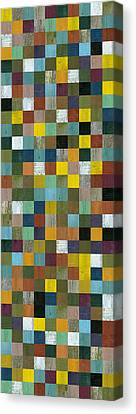 Rustic Wooden Abstract Tower Canvas Print by Michelle Calkins