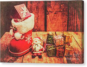 Rustic Xmas Decorations Canvas Print by Jorgo Photography - Wall Art Gallery