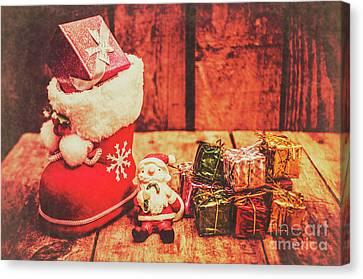 Rustic Xmas Decorations Canvas Print