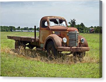 Old Trucks Canvas Print - Rusting Away 3 by Mike McGlothlen