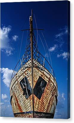Trawler Canvas Print - Rusting Boat by Stelios Kleanthous
