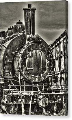 Rusting Locomotive Canvas Print
