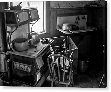 Rusting Pots And Pans, Bodie Ghost Town Canvas Print