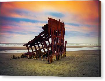 Fort Stevens State Park Canvas Print - Rusting Shipwreck by Garry Gay