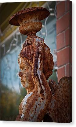 Canvas Print featuring the photograph Rusty Angel by Linda Unger