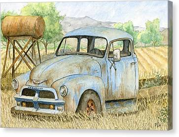 Rusty Blue Chevy Canvas Print