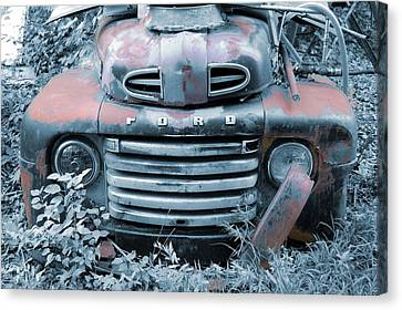 Rusty Blue Ford Canvas Print by Jame Hayes