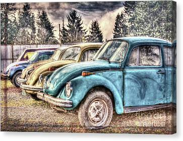 Canvas Print featuring the photograph Rusty Bugs by Jean OKeeffe Macro Abundance Art