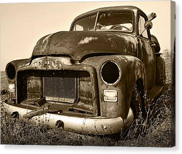 Rusty But Trusty Old Gmc Pickup Canvas Print by Gordon Dean II