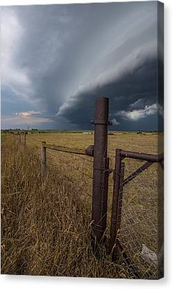 Canvas Print featuring the photograph Rusty Cage  by Aaron J Groen