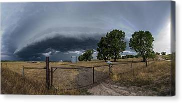 Canvas Print featuring the photograph Rusty Cage Pano  by Aaron J Groen
