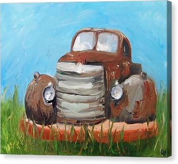 Rusted Cars Canvas Print - Rusty by Cari Humphry