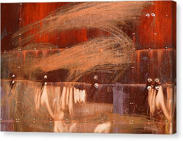 Rusty Container Canvas Print by Martine Affre Eisenlohr