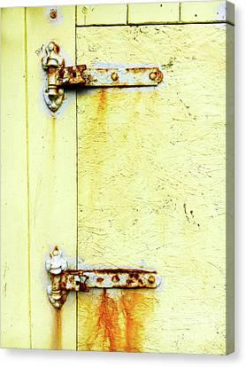 Rusty Door Hinges Canvas Print