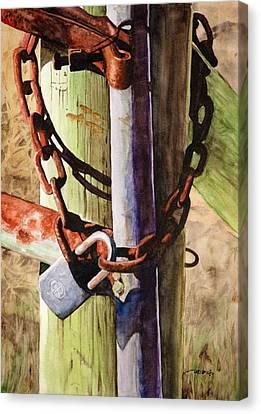Rusty Fence Gate Canvas Print