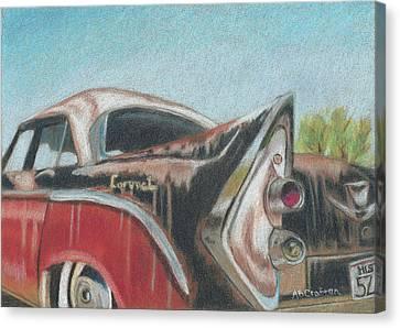 Rusty Fin Canvas Print by Arlene Crafton