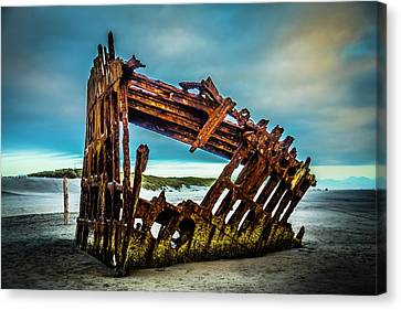 Fort Stevens State Park Canvas Print - Rusty Forgotten Shipwreck by Garry Gay