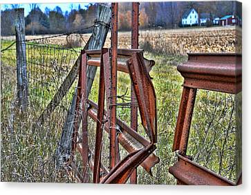 Rusty Gate Canvas Print by Pat Cook