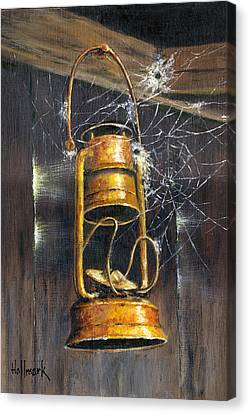 Rusty Lantern Canvas Print by Bob Hallmark