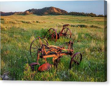 Rusty Machinery Canvas Print by Todd Klassy