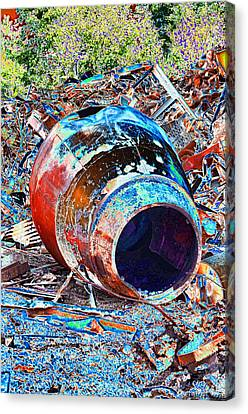 Rusty Metal Stuff II Canvas Print
