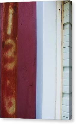 Rusty Numbers II Canvas Print by Anna Villarreal Garbis
