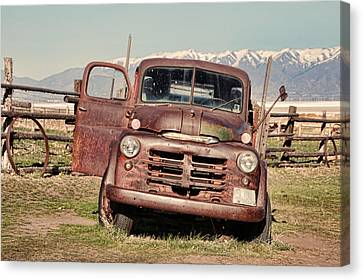 Canvas Print featuring the photograph Rusty Old Dodge by Ely Arsha