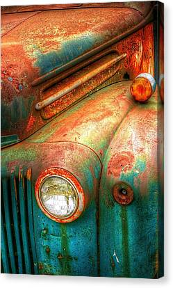 Rusty Old Ford Canvas Print by Randy Pollard