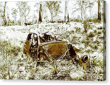 Rusty Old Holden Car Wreck  Canvas Print