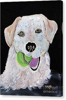 Canvas Print featuring the painting Rusty On Canvas by Janice Rae Pariza