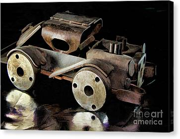 Rusty Rat Rod Toy Canvas Print by Wilma Birdwell