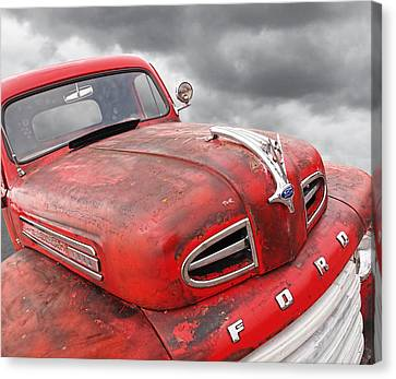 Rusty Red 48 Ford V8 Canvas Print by Gill Billington