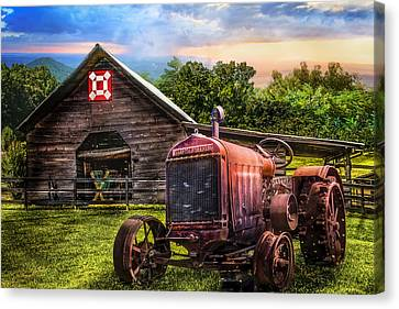 Rusty Red Canvas Print by Debra and Dave Vanderlaan