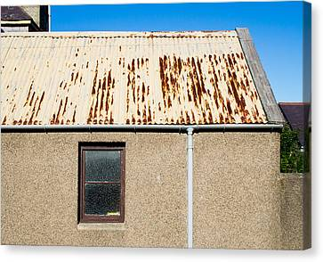 Drain Canvas Print - Rusty Roof by Tom Gowanlock