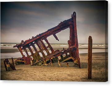 Rusty Shipwreck Canvas Print by Garry Gay
