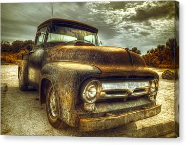 Rusted Cars Canvas Print - Rusty Truck by Mal Bray