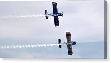 Canvas Print featuring the photograph Rv8tors Side By Side by Scott Lyons